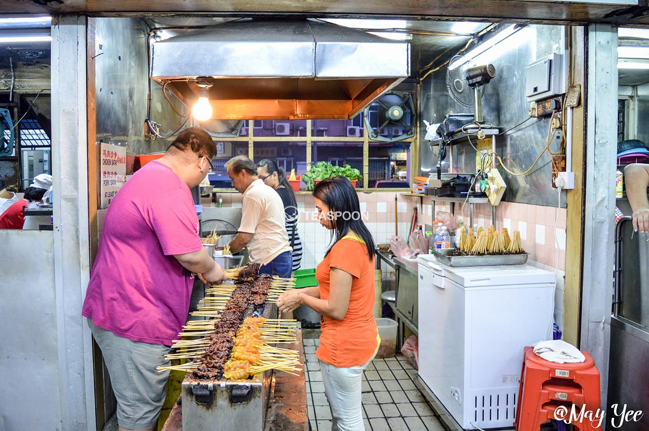 DINNER Hui Sing Hawker Centre HAP CHEN HIAN SATAY STALL (2)