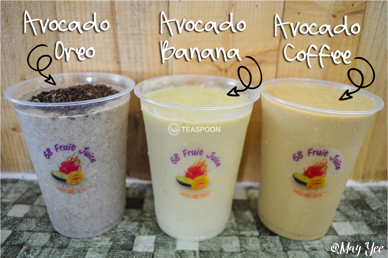 AVOCADO OREO AVOCADO BANANA AVOCADO COFFEE