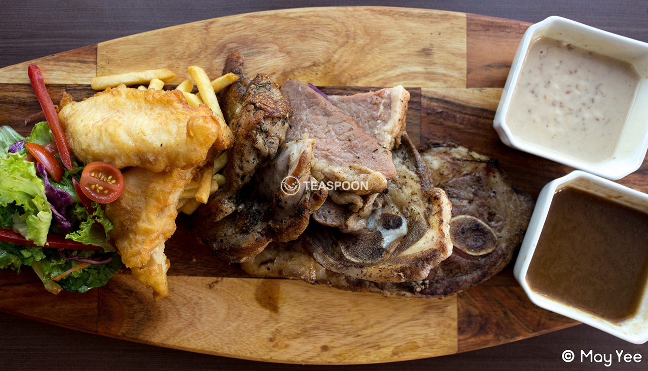 Mix platter (1-2 pax) Chicken, Lamb, Fish, Beef (7)