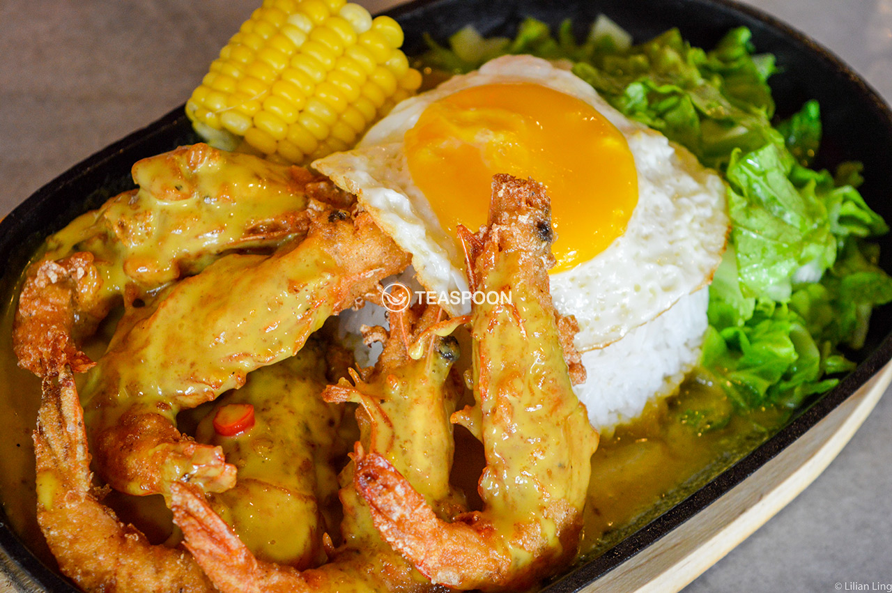 hot-plate-butter-prawn-rice