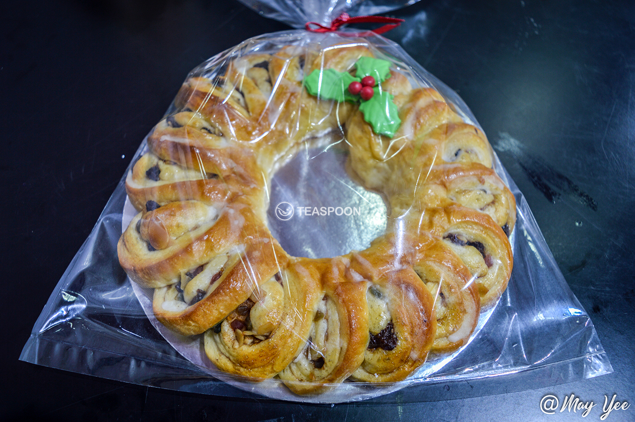 Xmas Wreath Sweet Roll