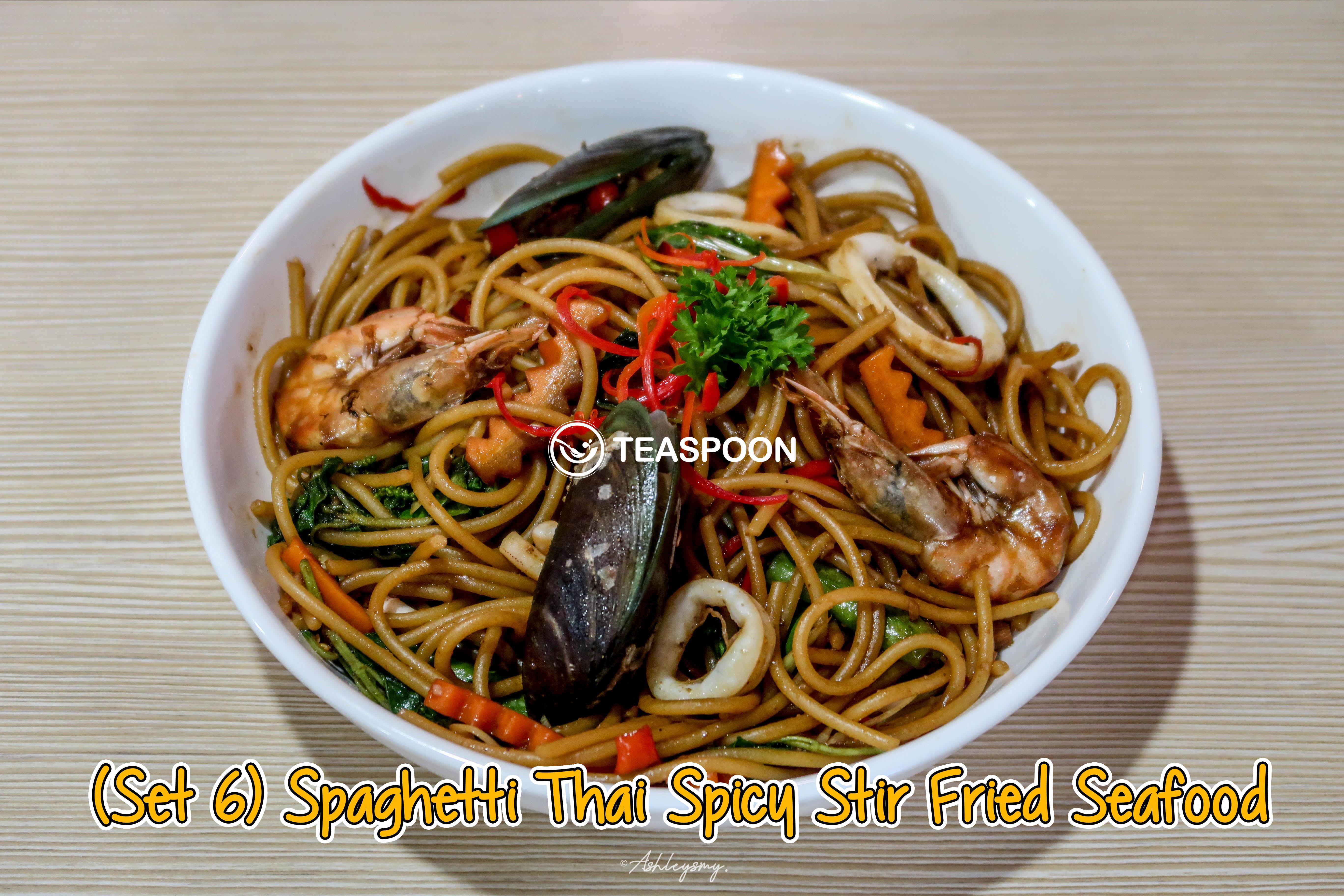 Spaghetti Thai Spicy Stir Fried Seafood (1) copy