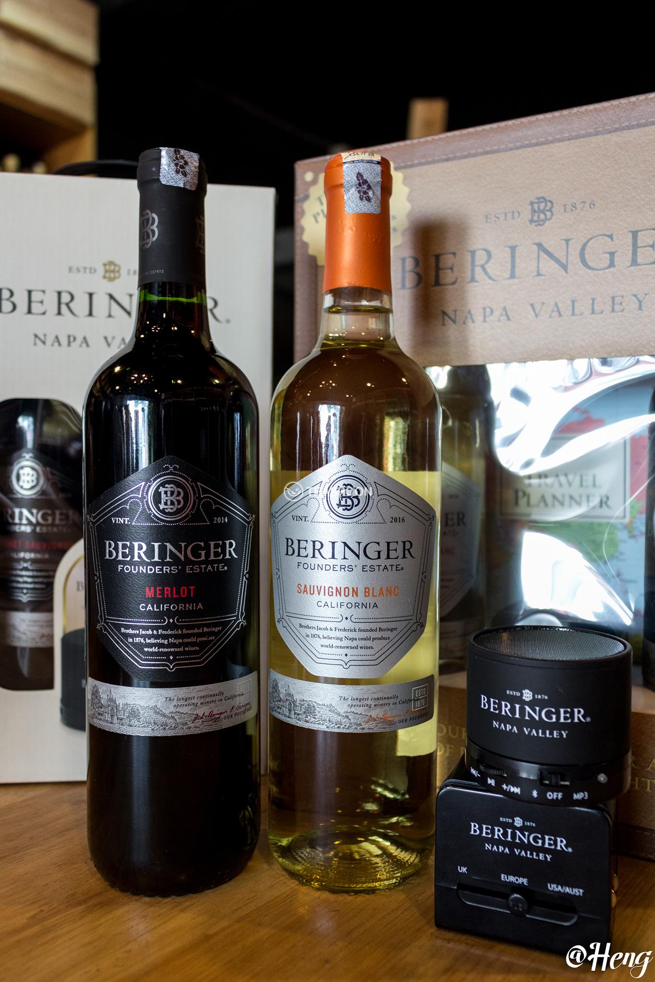 Beringer  Founders  Estate  Cabernet  Sauvignon,  Chardonnay and Merlot (2)