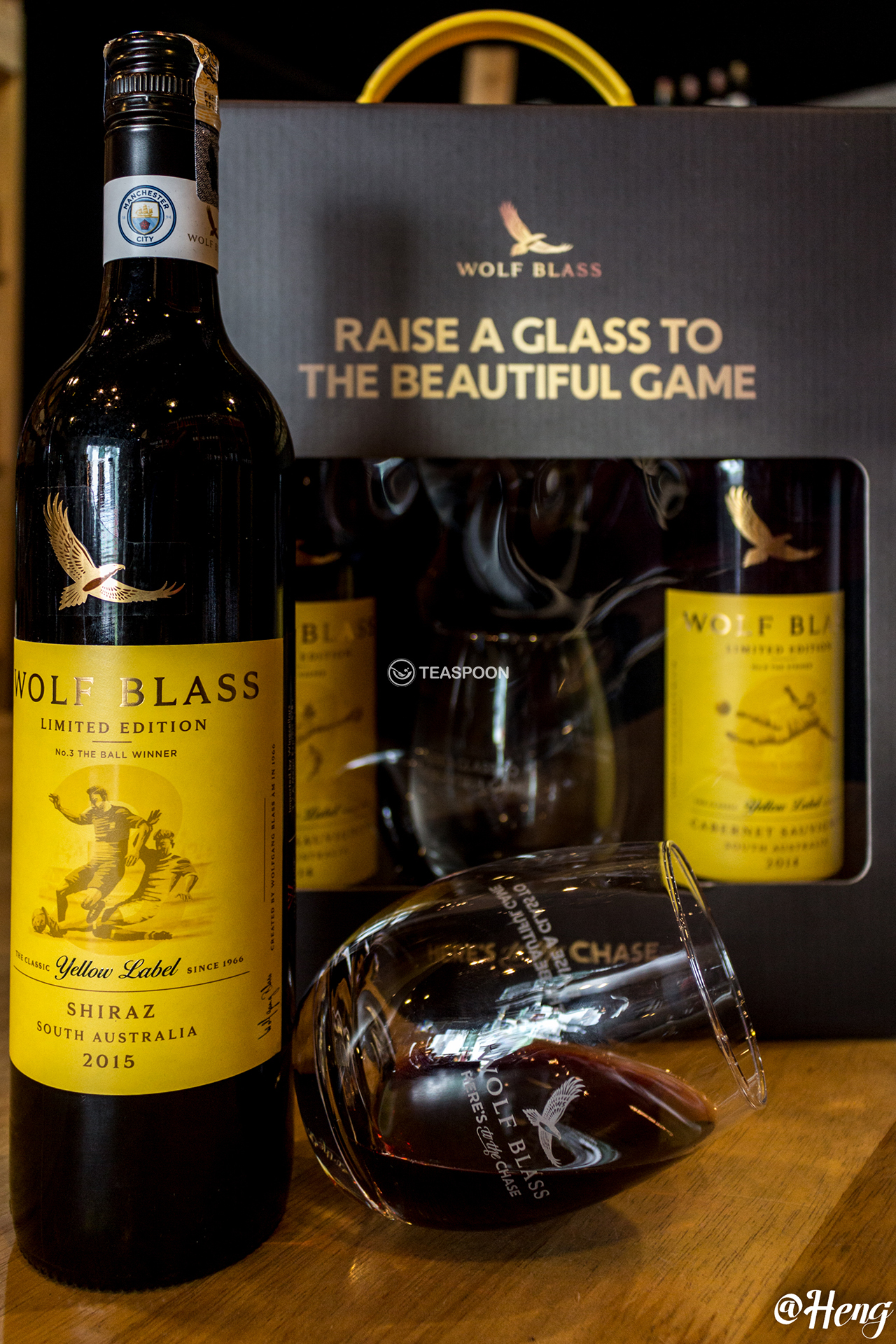 Wolf Blass  Limited  Edition Yellow  Label  Football  Series Cabernet Sauvignon and Shiraz