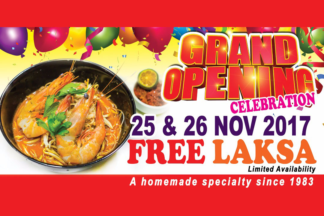 NEW Restaurant OFFER】 WOW… FREE LASKA Giveaway on 25 & 26 Nov