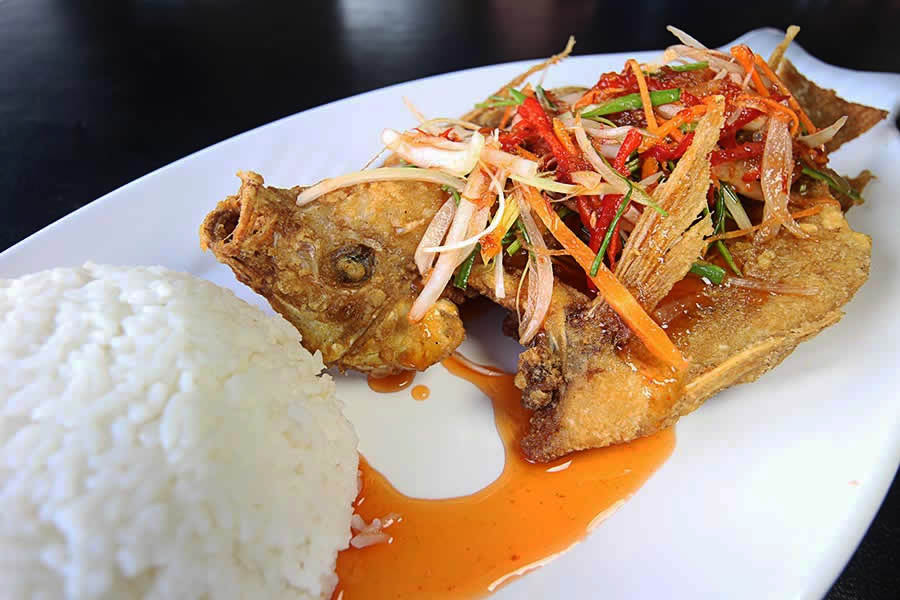 thai style tilapia with rice normal rm9 90